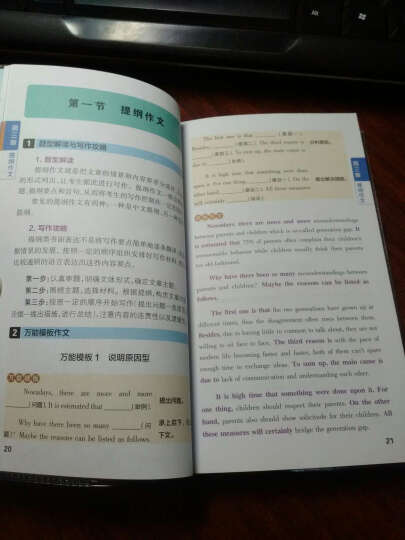 2016PASS绿卡 图解速记高中英语万能作文模板(全彩版) 晒单图