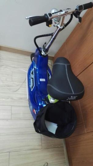 冰岚(Binglan) 电动车 小海豚电动滑板车 迷你折叠车女士自行车代步车电瓶车锂电池 深海蓝 【特价款】有刷同步带蓄电池重23KG不送赠品 晒单图