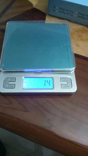 骏缘电子称 厨房秤 精准0.01g珠宝秤烘焙电子秤称重电子称0.1g克重克数秤克度秤天平秤 英文1公斤/0.1克/双托盘 晒单图