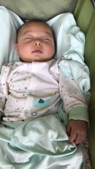 南极人(Nanjiren) 南极人婴儿纯棉衣服套装新生儿内衣宝宝衣服 高腰开衫-黄色猫咪 80CM 晒单图