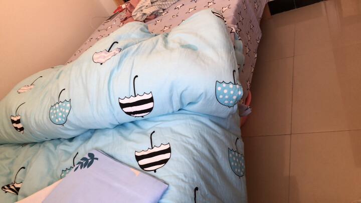 皮尔卡丹 全棉三件套床上用品 幼儿园纯棉3件套床单被套学生宿舍单人床品套件 方格风韵 1.2米床【160*210cm】 晒单图