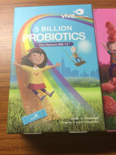 微娃丹麦原产进口进口儿童益生菌粉 调理宝宝肠道 丹麦科汉森bb12菌种10条装 晒单图
