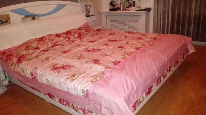 北极绒家纺全棉四件套婚庆床上用品套件床单被套提花贡缎 柔情似水-雪青 1.8米床/200*230被套 晒单图