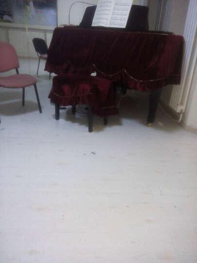 和居优品 奢华加厚三角钢琴罩 全罩加双人凳罩 支持定制 酒红色 晒单图