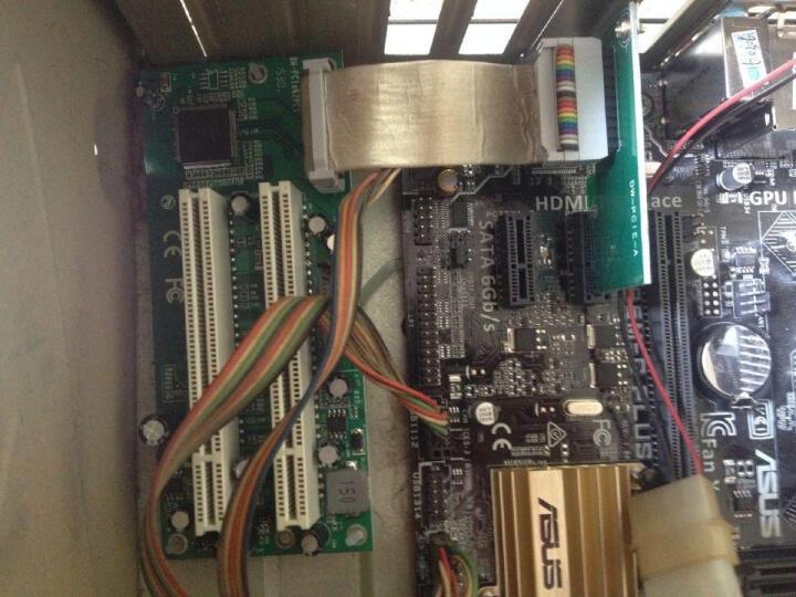 szllwl PCI-e转PCI转接卡 PCIe转双PCI槽扩展卡支持采集卡金税卡创新声卡 晒单图