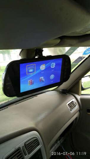 车美美 汽车语音可视倒车雷达一体机CCD高清无线倒车影像系统 7寸后视镜MP5无蓝牙+雷达-常规线+摄像头 晒单图