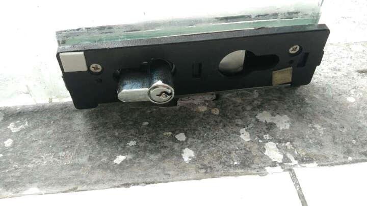 KOB品牌 无框玻璃门配件锁夹 地锁 钥匙锁 明装锁 不锈钢拉丝锁具 晒单图
