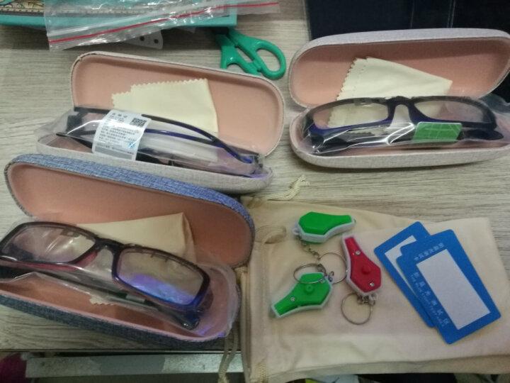 百飒(BYZA)防辐射眼镜 防近视平光镜 全框男女款 通用潮流眼镜架防蓝光电脑游戏护目镜 大号-亮黑色-防辐射平光镜 晒单图