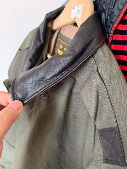 Luxury Lane 男士A2飞行夹克秋款厚帆布夹克外套 加肥加大 卡其色 XL(90-100kg) 晒单图
