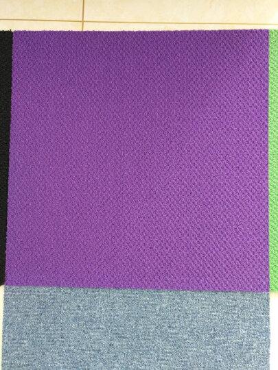 免胶地毯 地毯卧室满铺客厅隔音自吸式毛绒拼接地毯 日本进口日毯 (一箱16片装) HT106黑色 晒单图