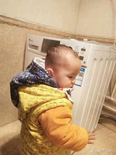 小天鹅(LittleSwan)洗衣机滚筒洗烘一体家用全自动8公斤变频带烘干银色TD80VN06DS5 晒单图