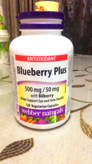 【全球购】加拿大直邮伟博webber naturals蓝莓越桔复合浓缩精华胶囊含花青素 120粒(新包装) 晒单图