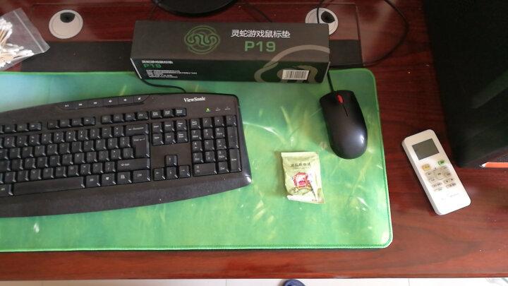 灵蛇 游戏鼠标垫 超大电脑桌垫  加厚办公桌键盘垫  精密包边 防滑 可水洗 P19青草 晒单图