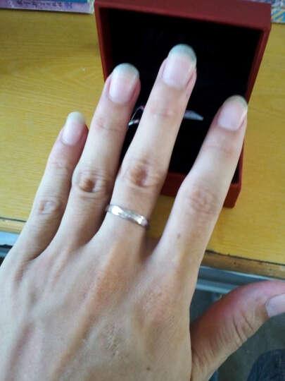 优卡薇情侣戒指925银对戒子男士单身尾戒银饰品白银指环 柔情 一对免费刻字七夕情人节礼物 无钻款活口一对--需要闭口请留号数 晒单图