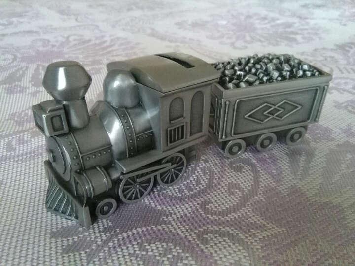 莱珍斯 拉煤火车 银锡 存钱罐 首饰盒 时尚生日小礼品可爱礼品储蓄罐 银色 晒单图