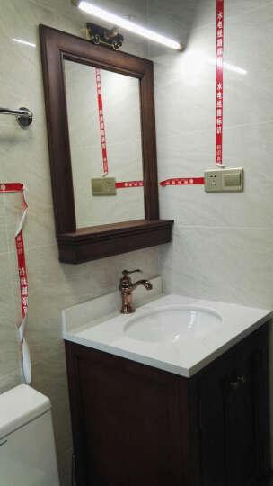 杜班尼(DUBANNY) 8125美式实木落地浴室柜组合套装 卫浴柜洗漱台洗脸洗手面盆柜 90cm纯白色 晒单图