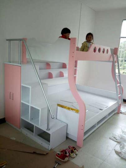 奥凡尼双层床高低子母床双层上下床铺公主男孩女孩带护栏家具 床+三抽子床+衣柜式梯柜 1.2*1.9米(指定城市0元五包) 晒单图
