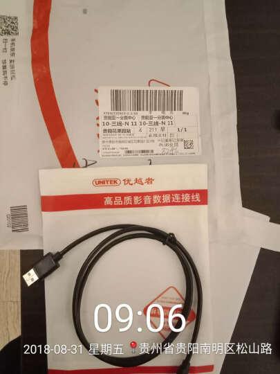 优越者(UNITEK)t型口数据线1米 mini usb数据线 移动硬盘行车记录仪电源线 相机平板mp3/4充电线 Y-C4003EBK 晒单图