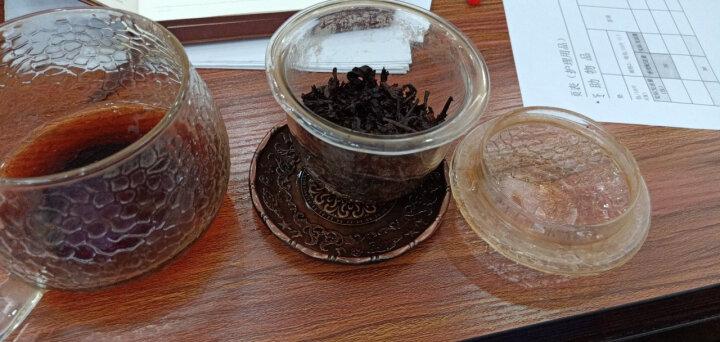 肖字和德 创意品茗茶杯垫 杯托复古合金铜 隔热垫 日式 功夫茶杯垫 茶具配件 四叶草绿-铜彩款 晒单图