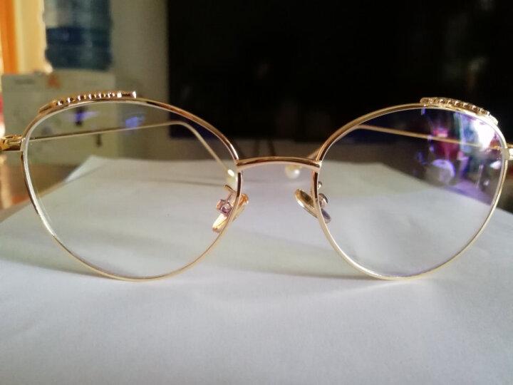 帕斯达(PSD)防辐射眼镜电脑护目镜潮流女士防蓝光平光镜大方框眼镜女 金色框防蓝光镜片 晒单图