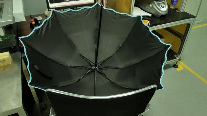 天堂伞 三折黑漆钢骨彩胶防紫外线UPF50+遮阳伞 韩式公主太阳伞时尚女士配饰 兰色B 晒单图