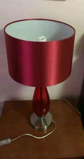 奥朵(AOZZO)台灯 客厅/卧室/书房现代简约婚庆灯绸布灯罩 TL20002 晒单图