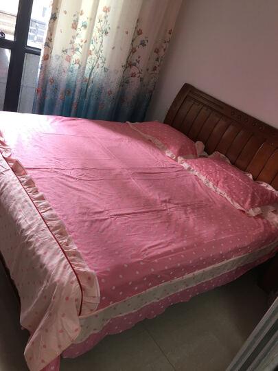 艾玛珂家纺 床上用品 全棉四件套 韩版 INS小清新公主风床单被套式斜纹双人床品套件家用 韩国丽人 1.5米-1.8米床 2*2.3米被套 晒单图