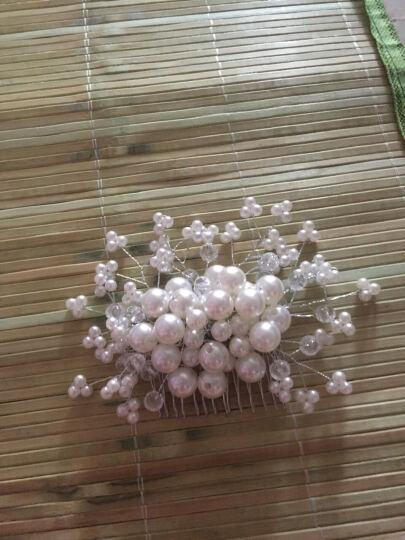 天雨尚衣 韩式新娘头饰白色结婚纱礼服配饰舞会演出首饰红色跟妆造型饰品TH11 白色 晒单图