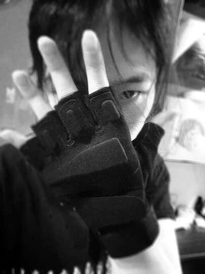 图跃(TUYUE)半指手套运动军迷特种兵户外休闲健身登山防滑防割骑行战术格斗手套(黑色) 晒单图