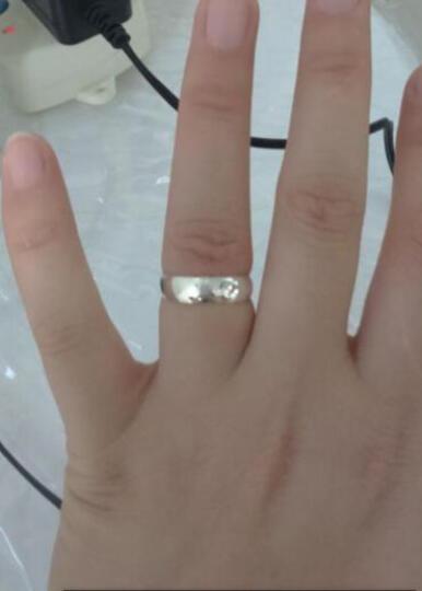 今上珠宝 18k金钻戒 钻石对戒情侣戒指 男戒女戒 订婚戒指结婚指环 七夕情人节礼物 18K玫瑰金不含钻石男士 晒单图