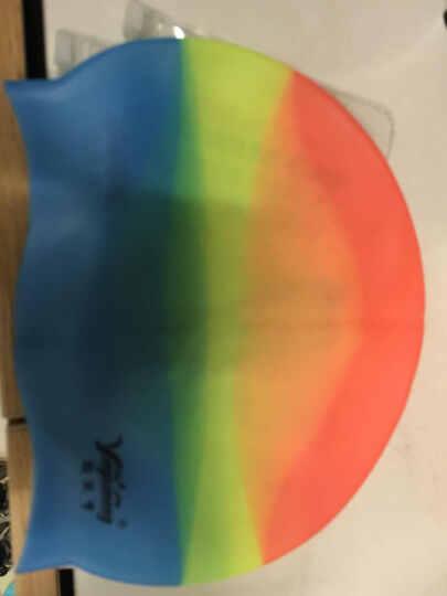 灵兰朵 泳帽游泳帽 男女通用硅胶泳帽 防水不湿发 玫蓝色 均码 晒单图