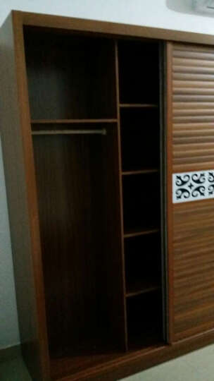 执与衣柜 木质 推拉门衣柜 组合衣柜 移门趟门衣柜 卧室1.6米1.8米两门大衣柜 自由 定制其他柜门请联系客服 1.8米 单花边 晒单图