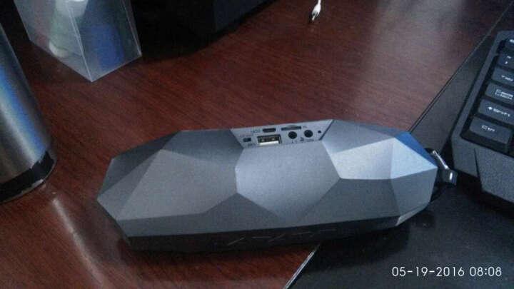 卡农(iKANOO) 无线蓝牙音箱 插卡小音箱 便携户外迷你音响 电脑音箱 钻石黑 晒单图