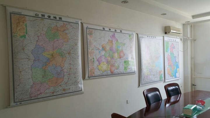 精装河北省地图挂图防水覆膜挂杆挂绳1.4mX1m 河北地图政区挂图 晒单图