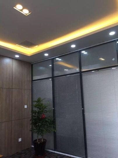 同廉上海办公家具 玻璃隔断墙高隔断 办公室铝合金玻璃隔断 定制办公室百叶隔断LOGO墙 86款单层磨砂玻璃隔断墙 晒单图