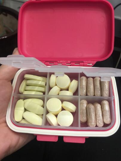 亿高 EKOA药盒密封收纳便携首饰盒小分格薬盒子玫瑰红 晒单图