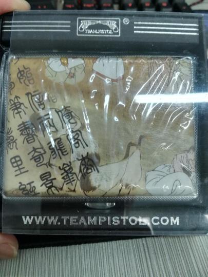 双枪(TEAMPISTOL)烟盒男士个性皮黑色装烟器超薄防潮防压 20支 异族风情 晒单图