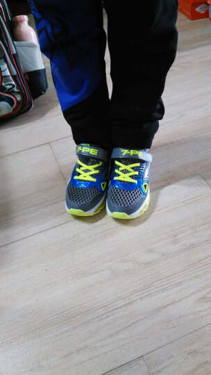 七波辉男童鞋 2020春秋款中大童儿童运动鞋透气休闲跑步鞋 宝蓝40009框子 31码 晒单图