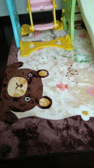 维科卡通满铺大地毯 客厅卧室床边毯茶几垫宝宝儿童房爬行垫 格子小熊 200x240cm 晒单图