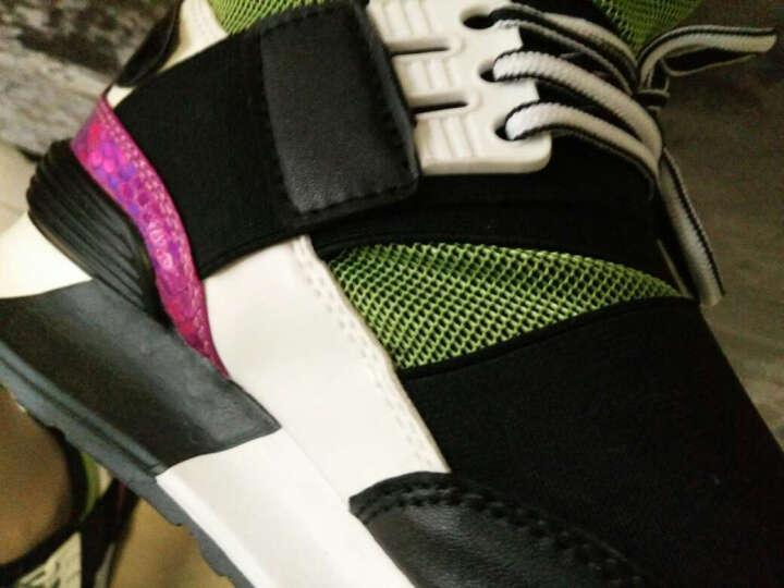福杯休闲鞋 女潮厚底隐形内增高女鞋 韩版百搭Y8运动鞋轻质松糕板鞋 灰色 37 晒单图
