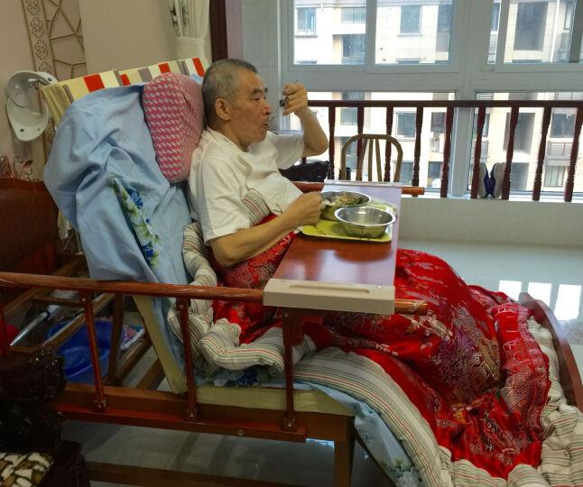 迈德斯特护理床家用手动电动老人多功能病床 浅紫色 晒单图