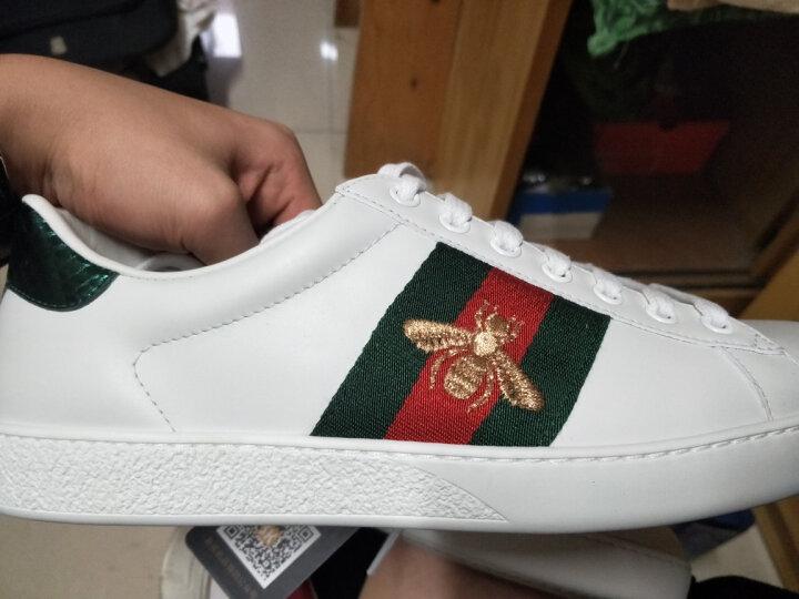GUCCI古驰男鞋牛皮蜜蜂刺绣运动休闲鞋小白鞋429446 02JP0 9064【预售10-15天】 40.5 晒单图