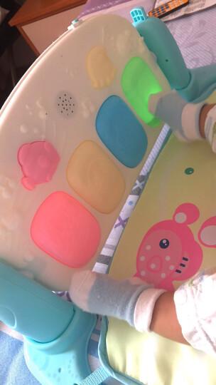 育儿宝 婴儿健身架宝宝幼儿玩具儿童脚踏钢琴脚踩躺着0-1岁6个月 充电版【2405个内容蜜蜂故事机款脚踏琴】送凉席 晒单图
