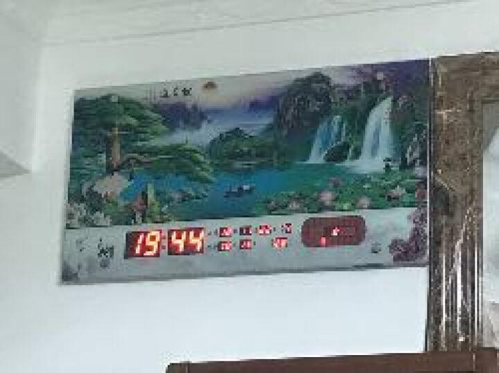 巴科达无框超薄LED数码万年历壁挂钟表客厅卧室办公时尚夜光静音挂钟创意日历闹钟电子报时钟表 和顺吉祥 31英寸(长79cm宽42cm) 晒单图