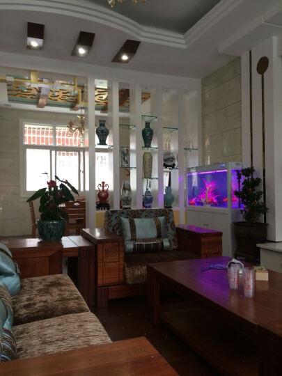 乾雅堂 景德镇陶瓷器 仿古青花瓷山水花瓶花插 现代家居客厅时尚装饰工艺摆件 将军罐 晒单图
