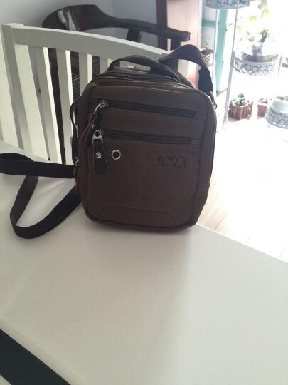 京城印象(jcyx)单肩包斜挎包男士小包复古商务休闲包帆布包Ipad mini手机包 印象咖啡色 晒单图