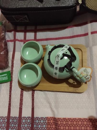 清彩 汝窑旅行功夫茶具套装快客杯 盖碗茶杯旅行茶具包 陶瓷器一壶二杯一茶盘送旅行包 雄风壶无茶盘送包 晒单图