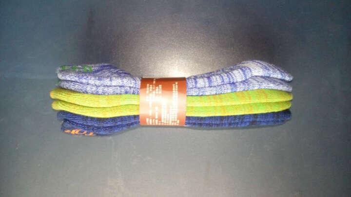 探路者(TOREAD)户外男女情侣袜子三件套装 TELE81862/TELE82861 星彩蓝/绿色/藏蓝-男 均码 晒单图