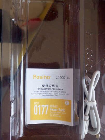 倍斯特(Besiter)20000毫安 移动电源/充电宝 大容量双USB输出 铝合金外壳 带LED灯电量显示 0177F 香槟金 晒单图