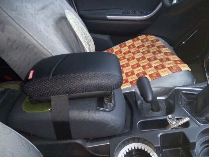 依达阳光车用肘托汽车中央扶手箱加长加高专用改装配件增高垫 灰色 东风风行景逸X3 X5 XV S50吉利豪情SUV 晒单图